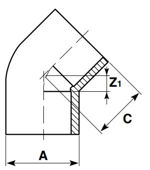 AirLine-Elbow-45-Diagram