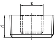 Malleable Iron Recessed Plug
