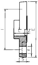 PVC Full Face Flange Diagram