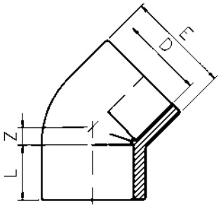 PVC-Elbow-45-Diagram
