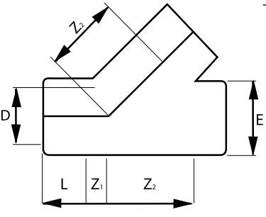PVC-tee-45-Diagram