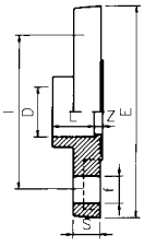 PVC Full Face Flange Diagram