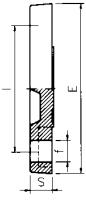 PVC Blanking Flange Diagram
