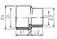 PVC Reducing Socket Plain Metric