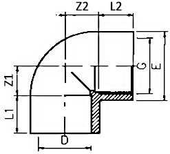 PVC-threaded-elbow-90-Diagram