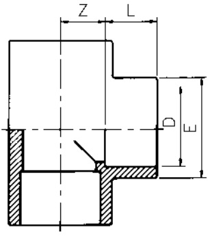PVC-Tee-90-Diagram
